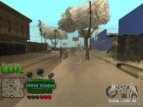 C-HUD Grove Street para GTA San Andreas sexta tela