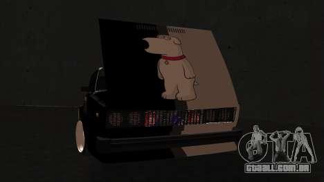 2105 cookie monster para GTA San Andreas traseira esquerda vista