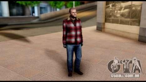 Prologue Michael Skin from GTA 5 para GTA San Andreas terceira tela