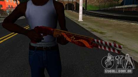 Natal Combat Shotgun para GTA San Andreas terceira tela