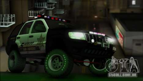 Jeep Grand Cherokee 1999 Sheriff para GTA San Andreas vista superior