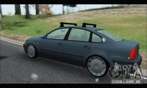 VW Passat para GTA San Andreas traseira esquerda vista