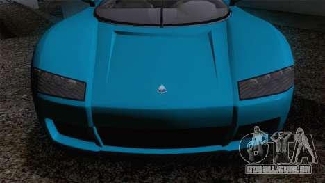 GTA V Overflod Entity XF v.2 para GTA San Andreas traseira esquerda vista