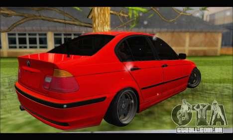 BMW e46 Sedan V2 para GTA San Andreas vista direita