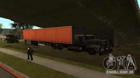 Transporte do caminhão-tanque para GTA San Andreas terceira tela
