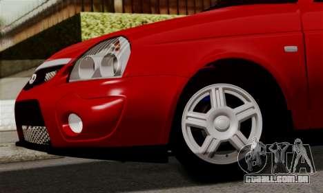 Lada Priora Sport para GTA San Andreas vista interior
