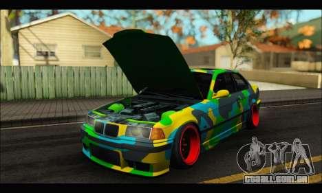 BMW M3 E36 Camo Style para GTA San Andreas vista direita