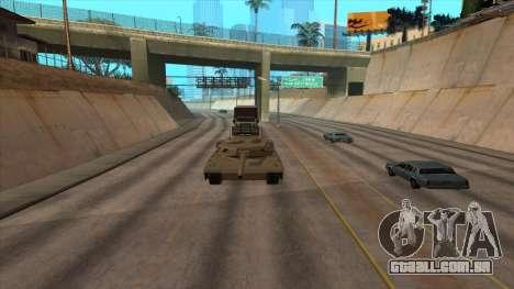 Transporte do caminhão-tanque para GTA San Andreas por diante tela