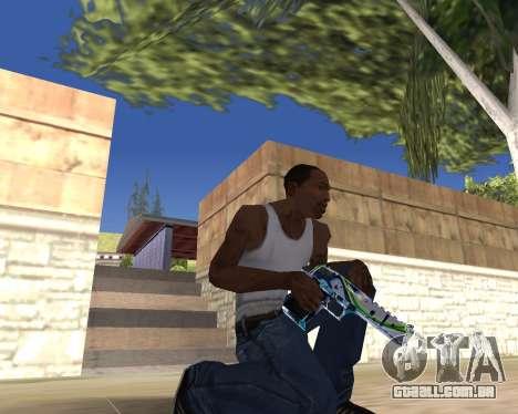 Graffity weapons para GTA San Andreas quinto tela