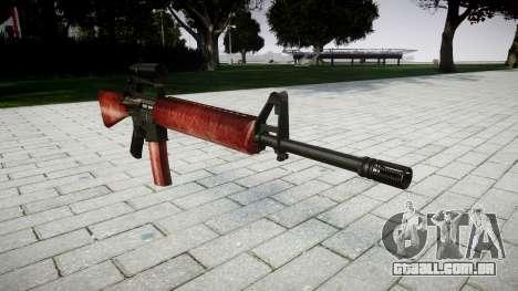 O M16A2 rifle [óptica] vermelho para GTA 4