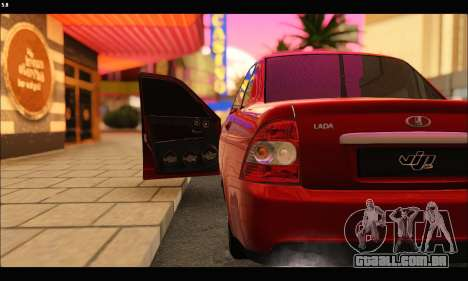 Lada Priora para GTA San Andreas vista interior