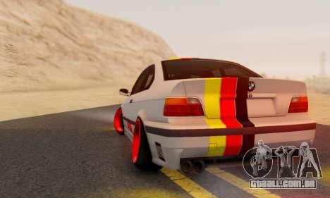 BMW M3 E36 German Style para GTA San Andreas esquerda vista