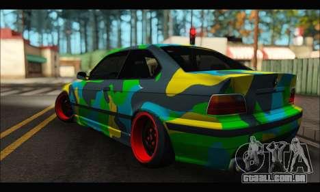 BMW M3 E36 Camo Style para GTA San Andreas esquerda vista