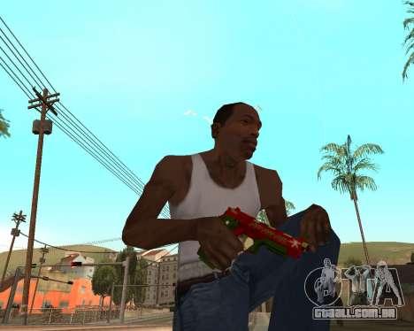 Ano novo weapon pack v2 para GTA San Andreas sexta tela