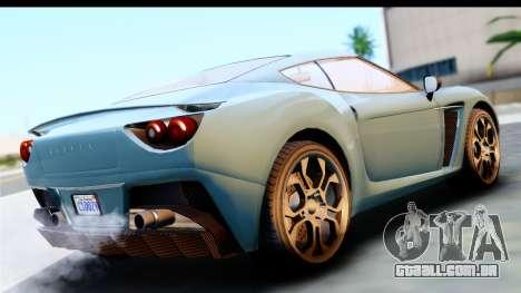 GTA 5 Grotti Carbonizzare v3 (IVF) para GTA San Andreas esquerda vista