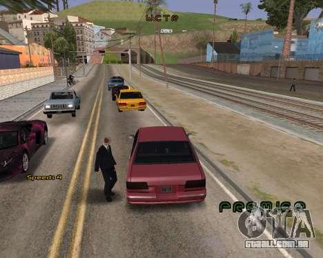 Car Speed para GTA San Andreas segunda tela