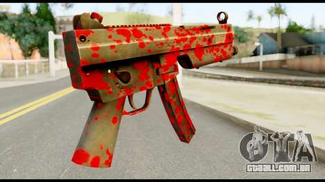 MP5 with Blood para GTA San Andreas segunda tela