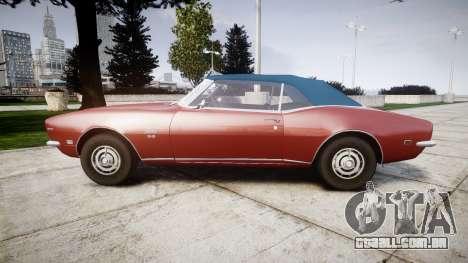 Chevrolet Camaro Mk.I 1968 rims1 para GTA 4 esquerda vista