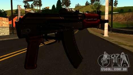 Escuro AKS-74U v2 para GTA San Andreas segunda tela