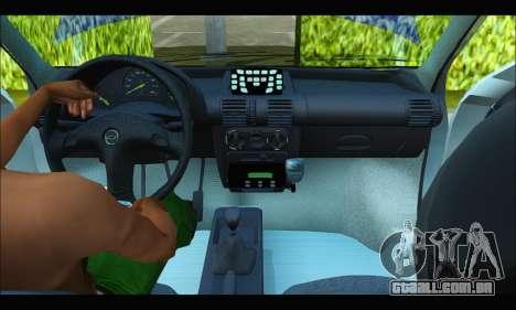 Chevrolet Corsa Policia Bonaerense para GTA San Andreas vista interior