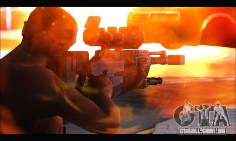 Raab KM50 Sniper Rifle From F.E.A.R. 2 para GTA San Andreas segunda tela