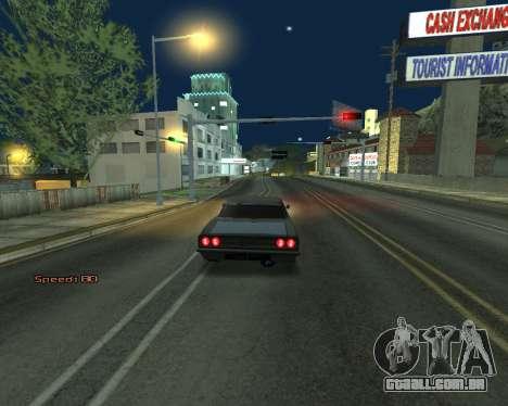 Car Speed para GTA San Andreas por diante tela