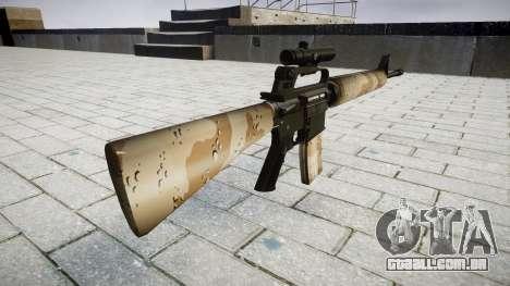 O M16A2 rifle [óptica] nevada para GTA 4 segundo screenshot