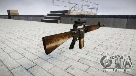 O M16A2 rifle [óptica] empoeirado para GTA 4 segundo screenshot