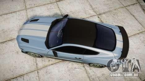 Ford Mustang GT 2015 Custom Kit gray stripes para GTA 4 vista direita