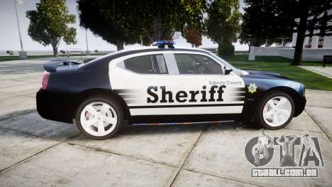Dodge Charger SRT8 2010 Sheriff [ELS] para GTA 4 esquerda vista