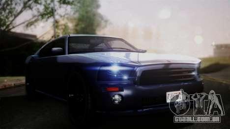 Bravado Buffalo Sedan v1.0 (HQLM) para GTA San Andreas traseira esquerda vista