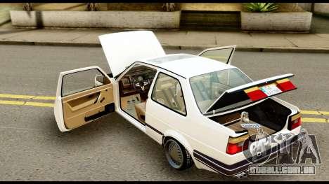 Volkswagen Jetta A2 Coupe para GTA San Andreas vista traseira