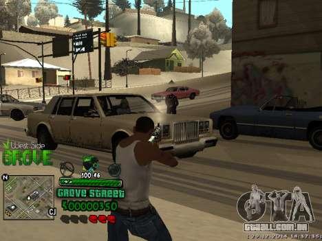 C-HUD Grove Street para GTA San Andreas por diante tela