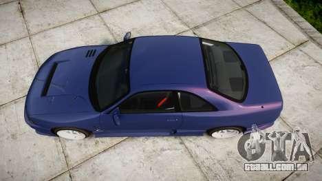 Nissan Skyline R33 GT-R para GTA 4 vista direita