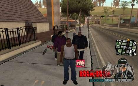 C-HUD Boom-Boom para GTA San Andreas segunda tela