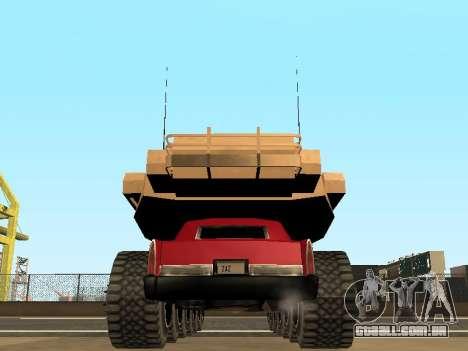 Tink Tank para GTA San Andreas vista interior