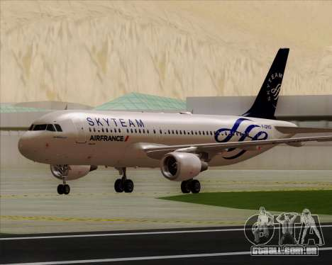 Airbus A320-200 Air France Skyteam Livery para GTA San Andreas esquerda vista