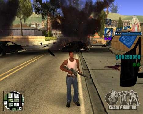 C-HUD Old Rifa para GTA San Andreas