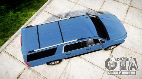 Chevrolet Suburban 2015 para GTA 4 vista direita
