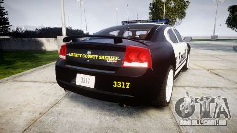 Dodge Charger SRT8 2010 Sheriff [ELS] rambar para GTA 4 traseira esquerda vista
