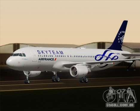 Airbus A320-200 Air France Skyteam Livery para GTA San Andreas vista superior