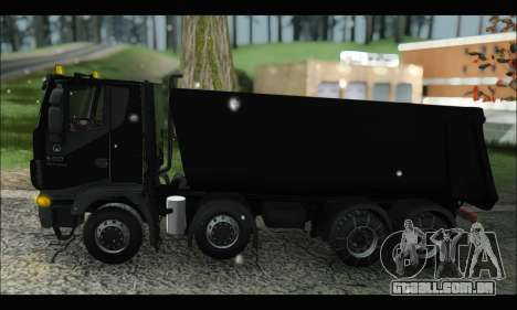 Iveco Trakker 2014 Tipper Snow (IVF & ADD) para GTA San Andreas