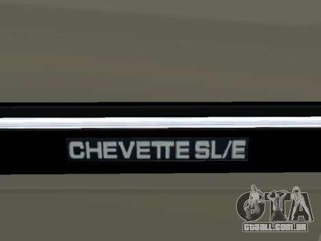Chevrolet Chevette Hatch para GTA San Andreas vista superior
