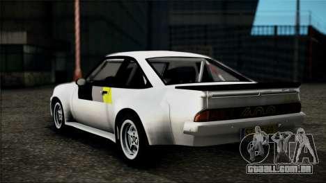 Opel Manta 400 para GTA San Andreas esquerda vista