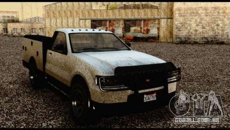 Utility Van from GTA 5 para GTA San Andreas vista direita