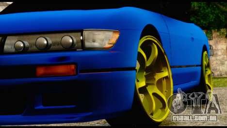 Nissan Silvia S13 Sileighty Drift Moster para GTA San Andreas vista traseira