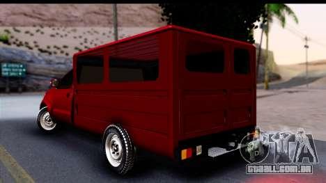 Toyota Hilux FB para GTA San Andreas esquerda vista