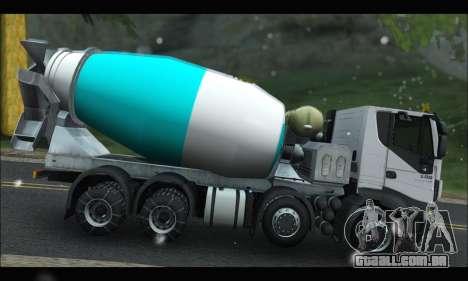 Iveco Trakker 2014 Concrete Snow para GTA San Andreas esquerda vista