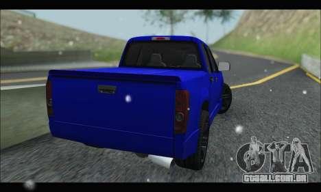Chevrolet Colorado Codered 2004 para GTA San Andreas traseira esquerda vista