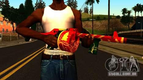 Natal Espingarda para GTA San Andreas terceira tela